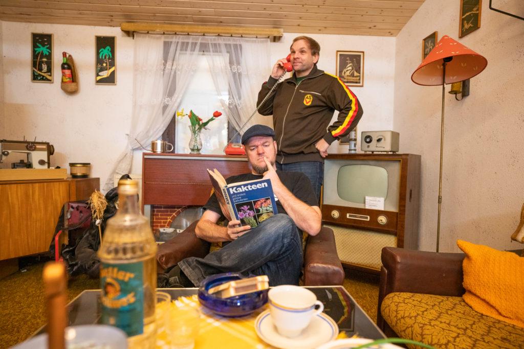 Jörg Schwedler und Dominik Bartels von der Ossilesung